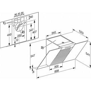 miele wand dunstabzugshaube da 6096 w white wing miele onlineshop i. Black Bedroom Furniture Sets. Home Design Ideas