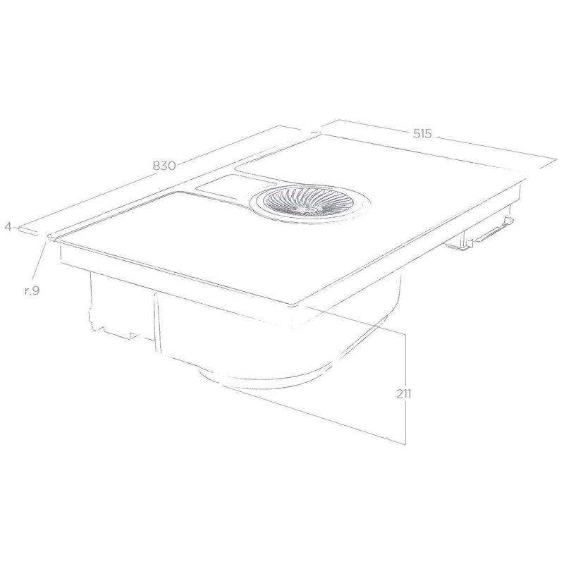 elica nikola tesla bl f 83 umluft prf0120978 miele. Black Bedroom Furniture Sets. Home Design Ideas