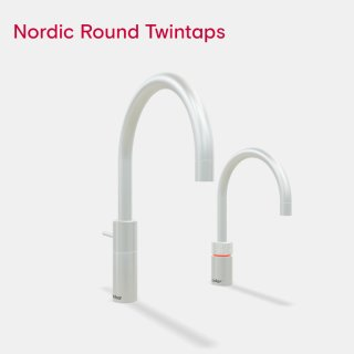 Quooker Nordic Round Twintaps mit PRO3 Reservoir & CUBE...