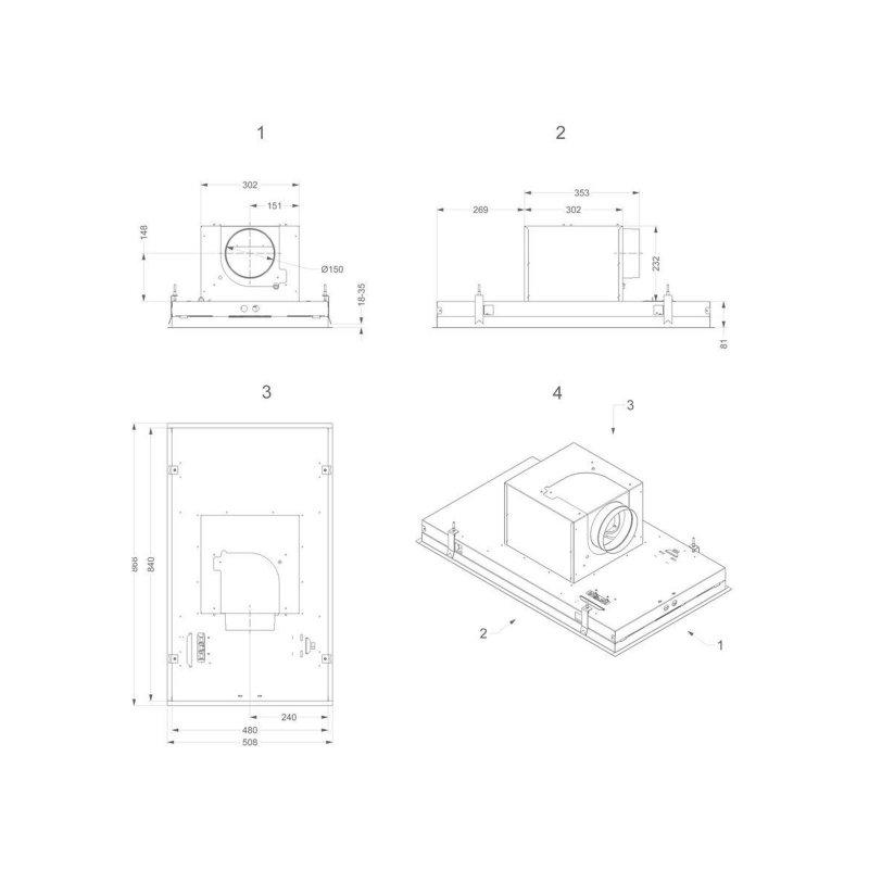 novy deckenhaube pureline 90cm wei ohne beleuchtung 6834 inkl 5 jahre garantie miele. Black Bedroom Furniture Sets. Home Design Ideas